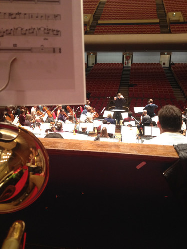 Rehearsal with the Bournemouth Symphony Orchestra, Colston Hall, Bristol. November 2013