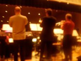 Sitting in with the Big Phat Band trumpet section during sound check