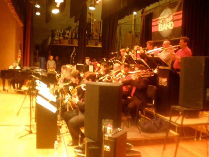 Sitting in on the Big Phat Band Soundcheck