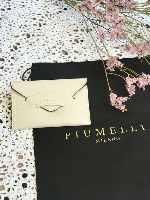 piumelliカードケース-Off White-
