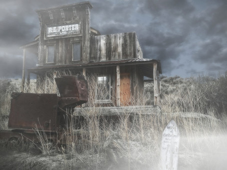 A Ghost Town in Wyoming