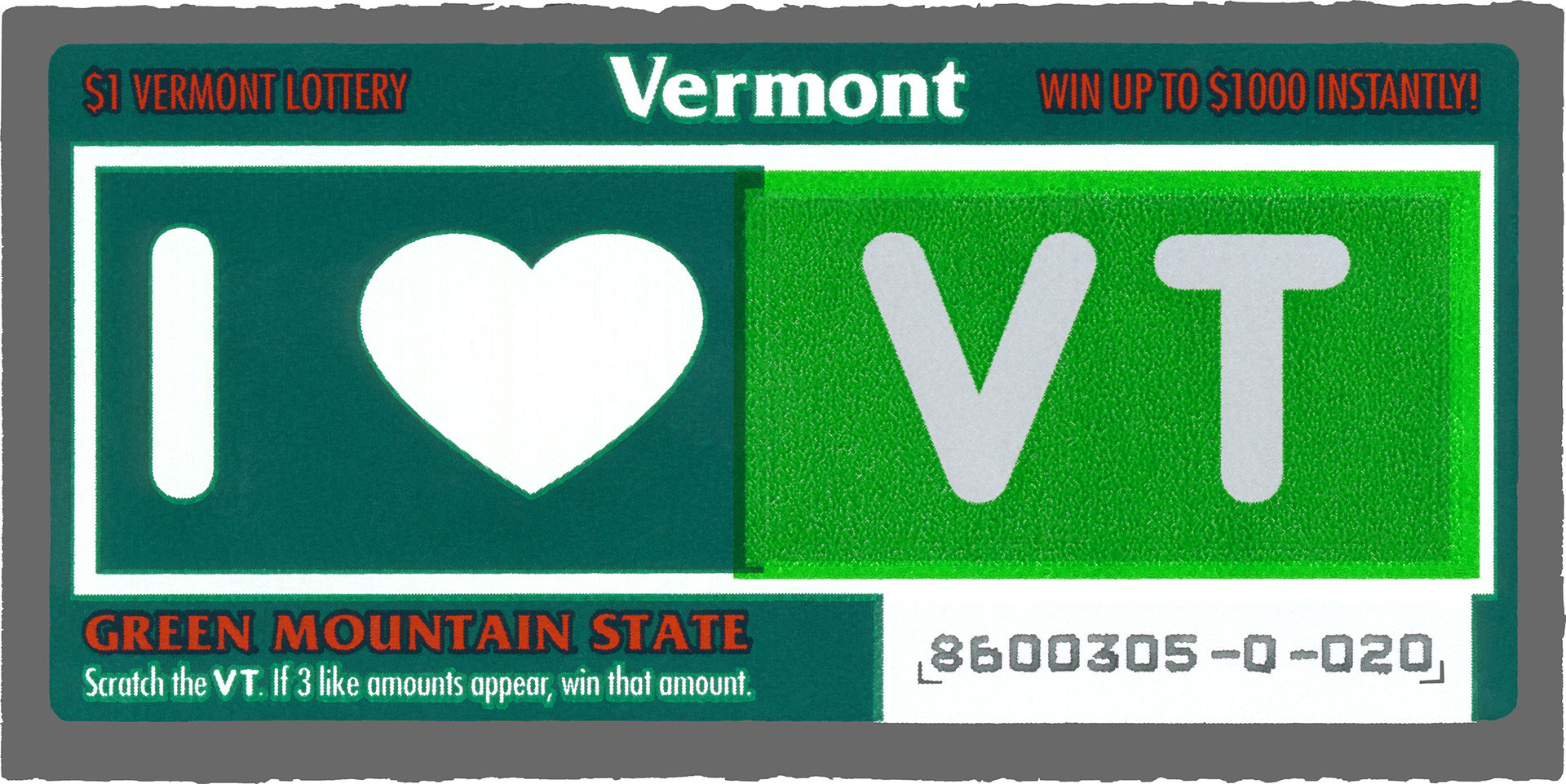 Lottery Ticket - Vermont 1970s