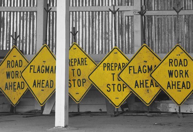 Signs on Break