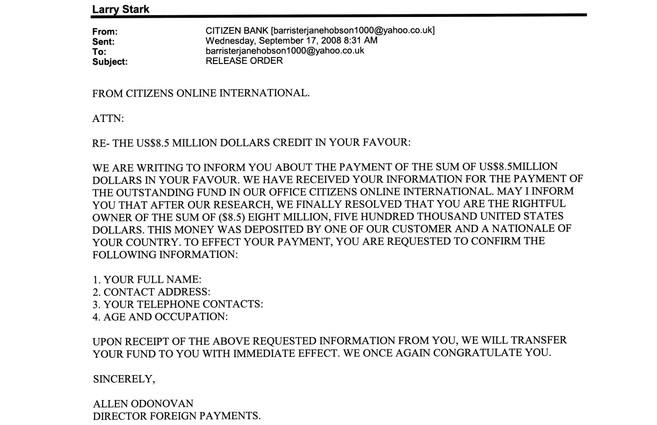 Spam Citizens Bank