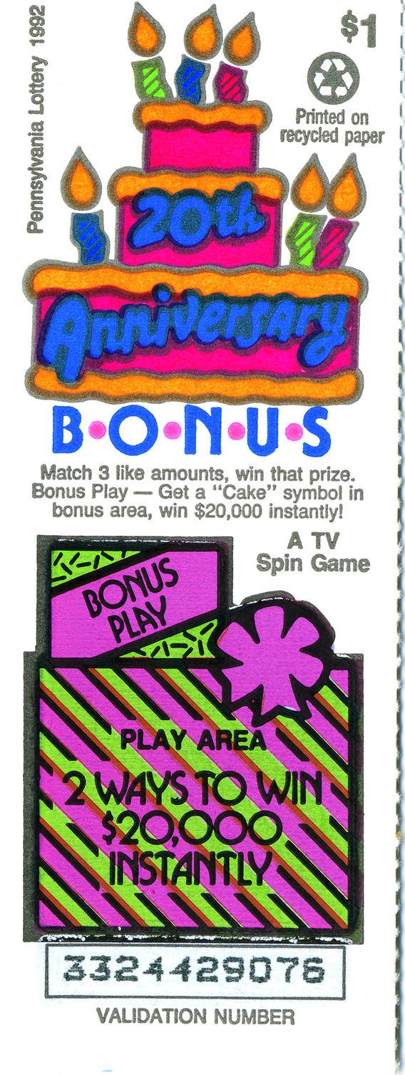 Lottery Ticket - Pennsylvania 1992