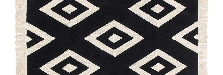 Lorena Canals | Diamonds Rug - Black / White