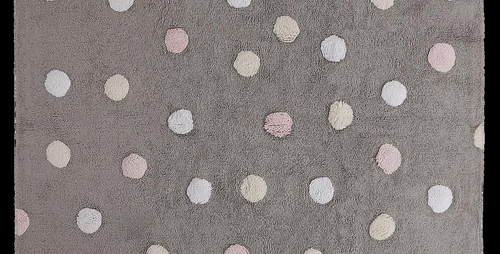 Lorena Canals | Tricolor Topos - Pink Rug