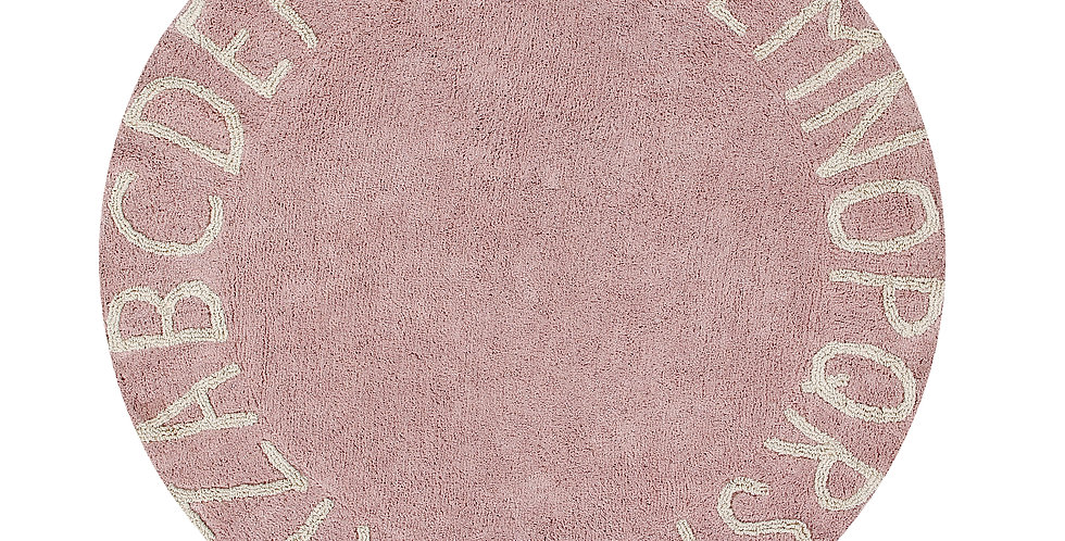 Lorena Canals | Round ABC - Vintage Nude Pink