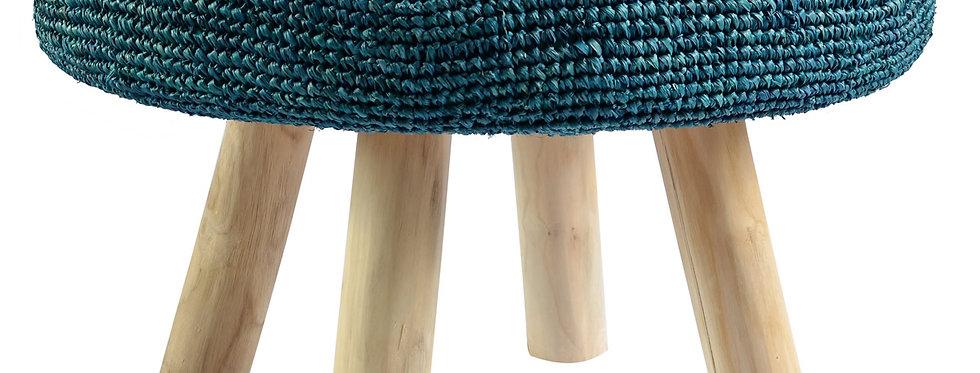 Ganesh Stool   Turquoise