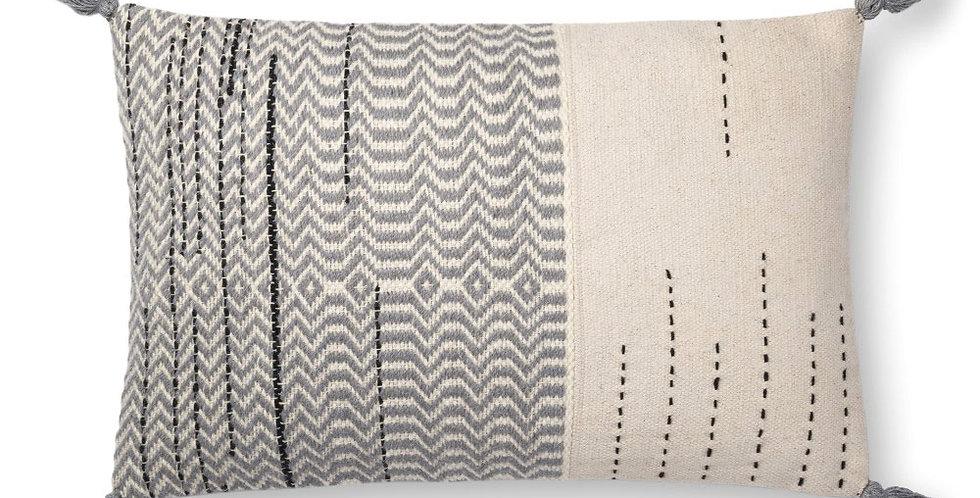 Amie Pillow | Grey - Ivory