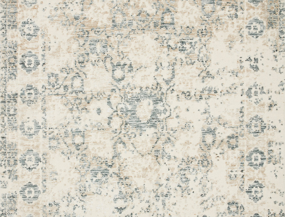 Lindsay | Antique White - Aqua