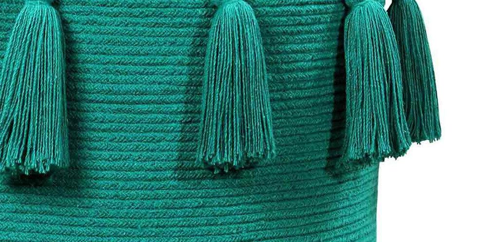 Lorena Canals | Tassels Basket - Emerald