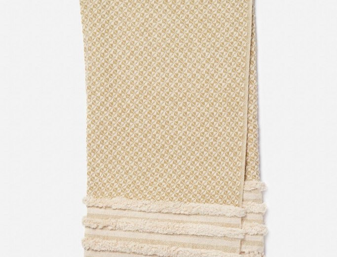 Mackie Throw | Gold / Ivory