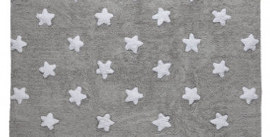 Lorena Canals | Stars Rug - Grey-White