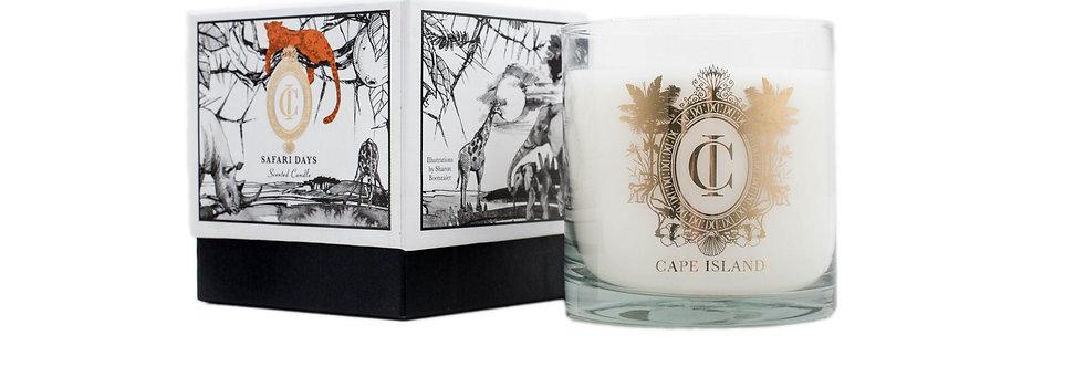 Cape Island   Safari Days - Large Candle