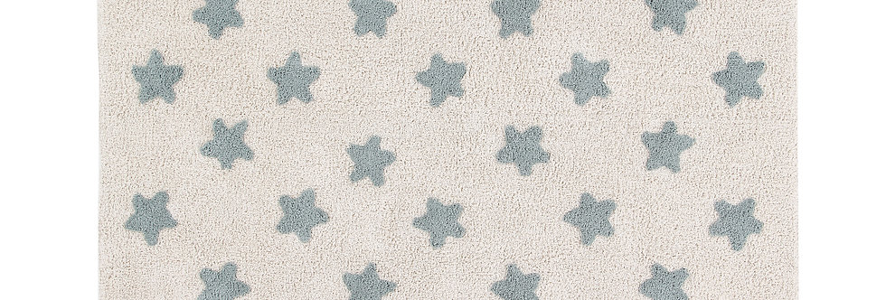 Lorena Canals | Stars Rug - Natural & Vintage Blue