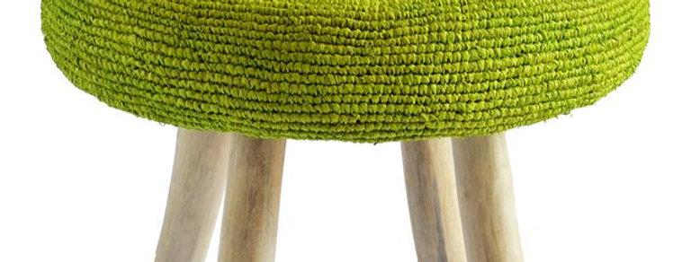 Ganesh Stool | Lime Green