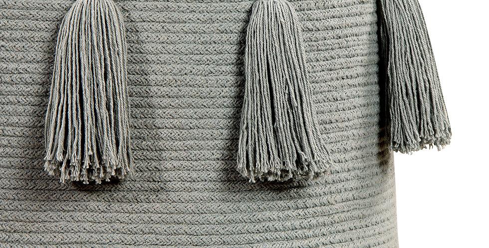 Lorena Canals | Tassels Basket - Light Grey