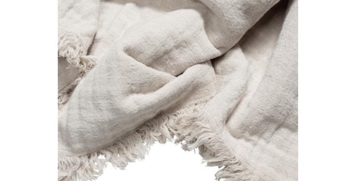Muslin Throw in Linen