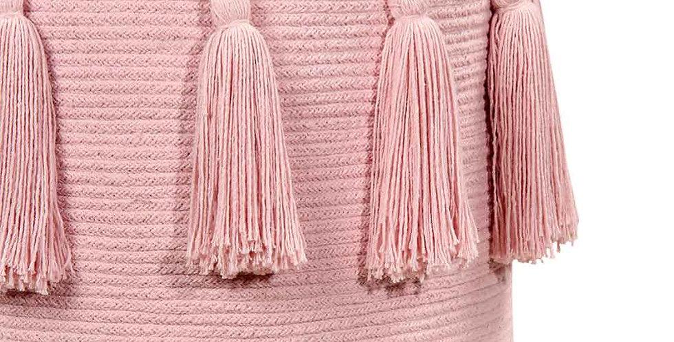 Lorena Canals | Tassels Basket - Soft Pink