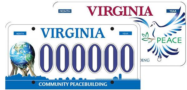 peace licence plate virginia