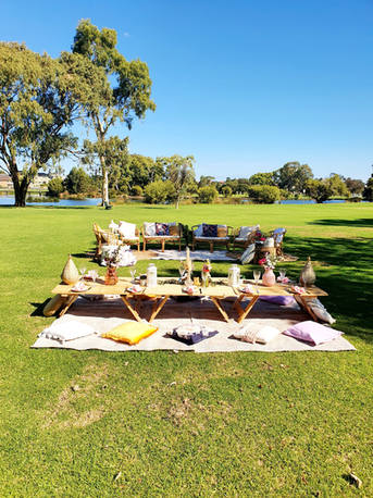 Full Glam Picnic with Lounging Area