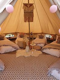 Boho bell tent sleepover
