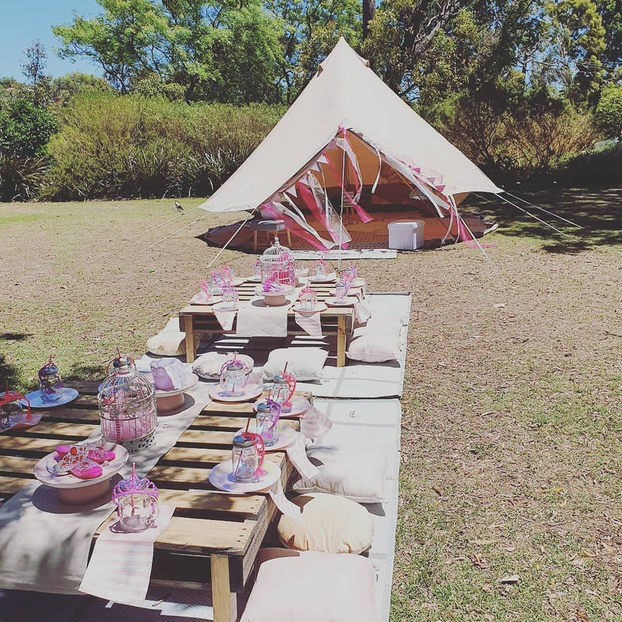 Kids Party Picnic with Play tent