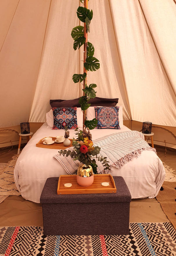Romantic Bell Tent Glamping