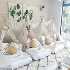 Gold and White boho