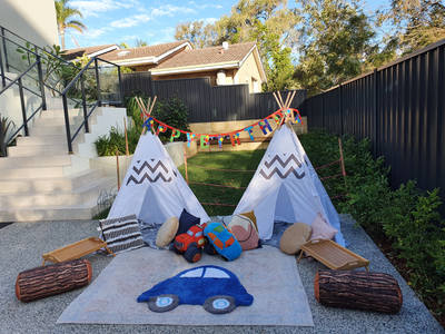 Kids Birthday party Teepee Play