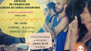 Señeros- Espacio de Formación en Lengua de Señas Argentina te invita a participar del Taller de LSA