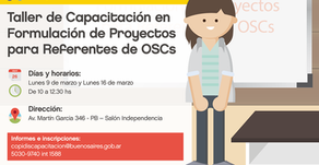 TALLERES DE CAPACITACIÓN EN FORMULACIÓN DE PROYECTOS PARA REFERENTES DE OSCs -2020- Copidis