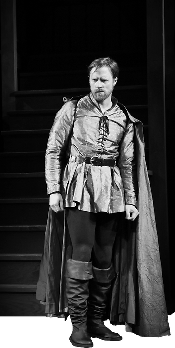 Jon Barker, Hotspur, Izzie Steele, Lady Percy, Henry IV Part One, The Shakespeare Theatre of NJ