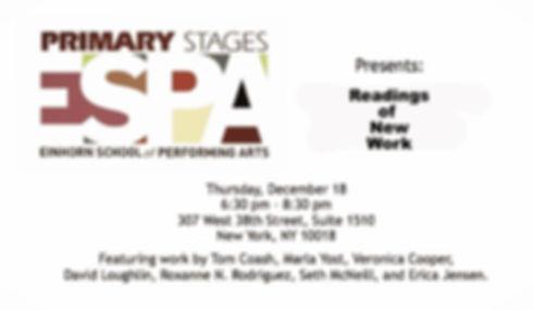 Jon Barker, Primary Stages, Erica Jensen