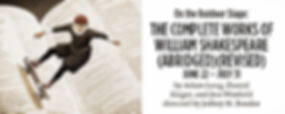 The Compete Works of William Shakespeare Promo Banner