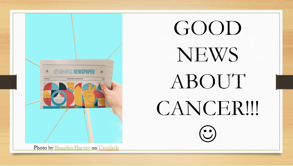 Good News About Cancer PowerPoint Slides