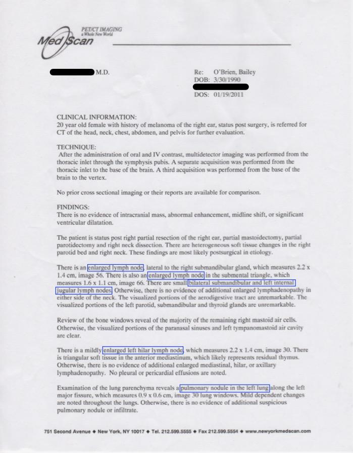 Jan 19 2011 CT Full Body Scan Report