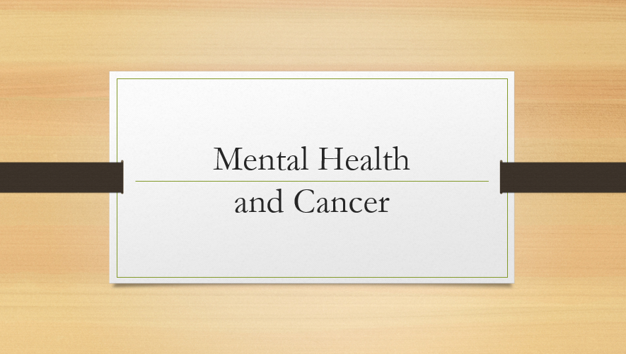 Stress and Cancer PowerPoint Presentation