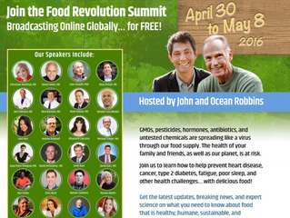 The Food Revolution Summit, a Survey & One More Thing!