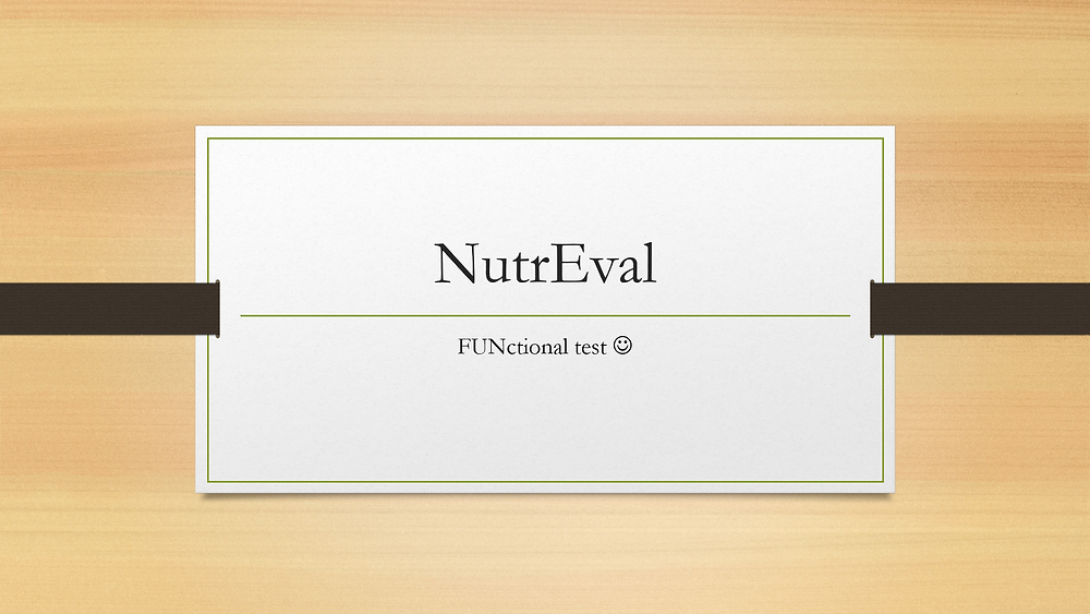 NutrEval PowerPoint Slides