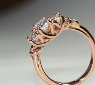 Rose Gold Engagement Ring Profile