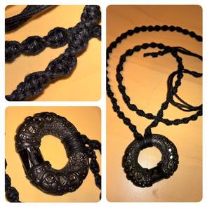 Sculpy & Tourmaline Necklace