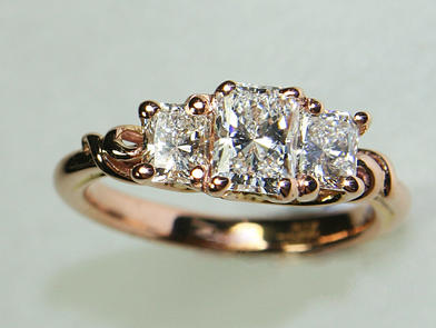 Rose Gold Engagement Ring Top