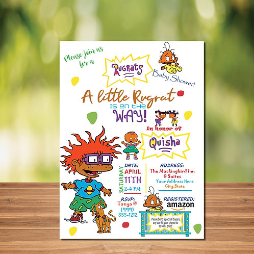 Customized Rug Rat Inspired Baby Shower Invitation (Digital File Only)