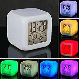7 color alarm night watch digital
