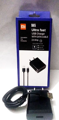MI ultra fast usb charger with data cable
