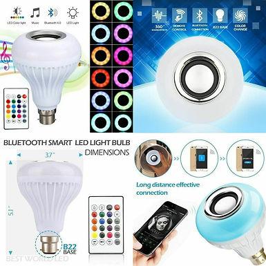 smart led bulb 8 color change model via mobile phone