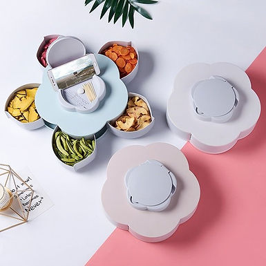 smart candy box rotating tray spice storage