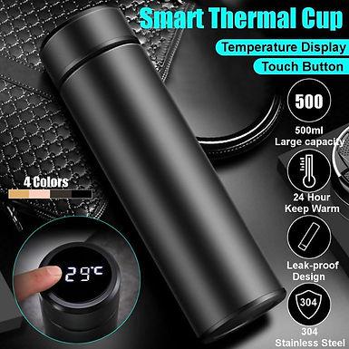 Smart vaccum insulated bottle LED temperature